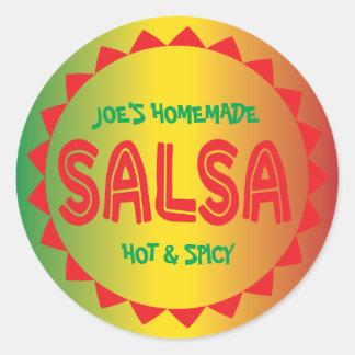 Einmachender Aufkleber der selbst gemachten Salsa