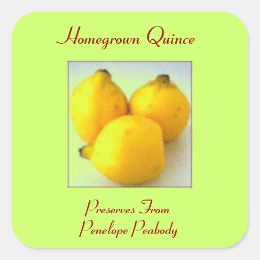 Einmachender Aufkleber für Quitten-Frucht fertigen