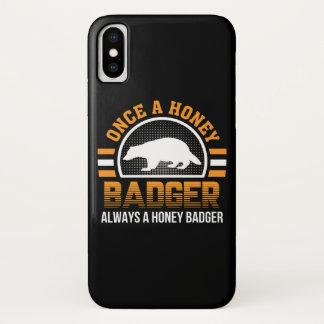 Einmal Honig-Dachs-immer Honig-Dachs iPhone X Hülle