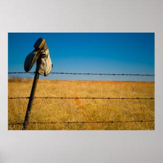Einsame Felder Poster