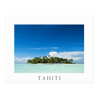 Einsame Insel in der pazifischen weißen Postkarte