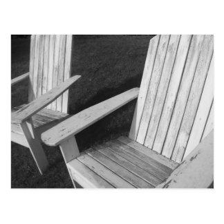 Einsame Stühle Postkarte