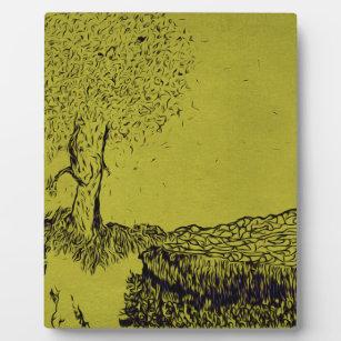 Einsamer Baum Fotoplatte