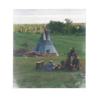 Einsamer gebürtiger amerikanischer Ureinwohner Notizblock