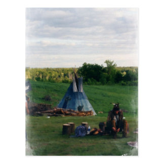 Einsamer gebürtiger amerikanischer Ureinwohner Postkarte