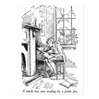 Einsamer Junge (mit Text) Postkarte