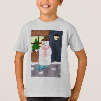 Einsamer Schneemann T-Shirt