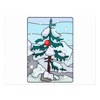Einsamer Weihnachtsbaum Postkarte