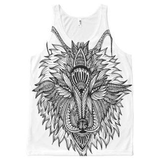 Einsamer Wolf Komplett Bedrucktes Tanktop