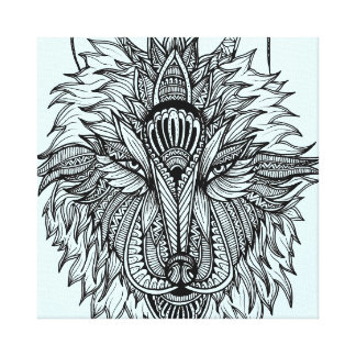 Einsamer Wolf Leinwanddruck