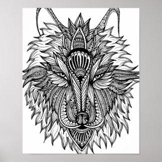 Einsamer Wolf Poster