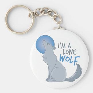 Einsamer Wolf Schlüsselanhänger