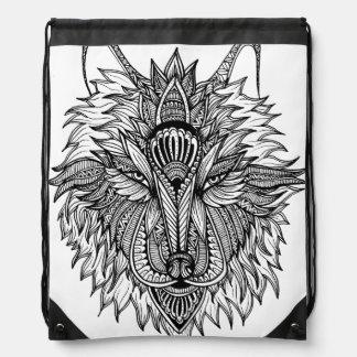 Einsamer Wolf Turnbeutel