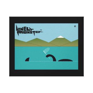 Einsames Monster Sharkhunter Leinwanddruck