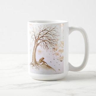 Einsamkeit und despression kaffeetasse