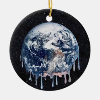 Einschmelzen (voller Universum-Hintergrund) Keramik Ornament
