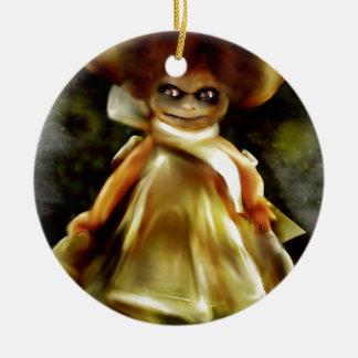 Einschüchternde Dora Transportwagen-Produkte Rundes Keramik Ornament