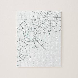 Einschusslöcher im Glas Puzzle