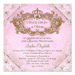 Einst Prinzessin 1. Geburtstag Quadratische 13,3 Cm Einladungskarte