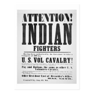 Einstellungsplakat für die US-freiwillige Postkarte