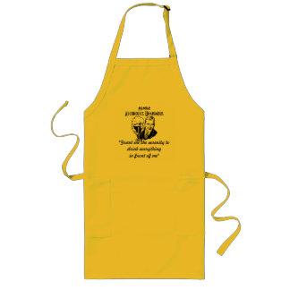 Einstimmige BBQ/Kitchen Schürze der Alkoholiker-