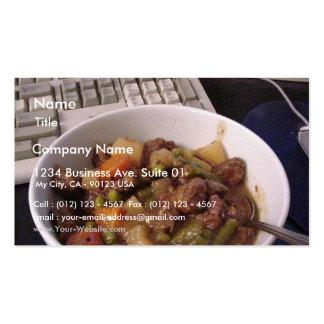 Eintopfgericht-Rindfleisch, das Abendessen-Nahrung Visitenkarte