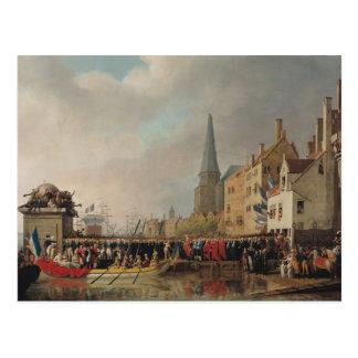Eintritt von Bonaparte, als zuerst Konsul Postkarte