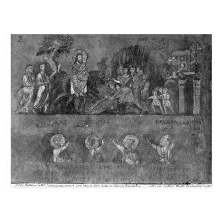 Eintritt von Jesus in Jerusalem Postkarte