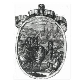 Eintritt von König Louis XIV in Straßburg Postkarte
