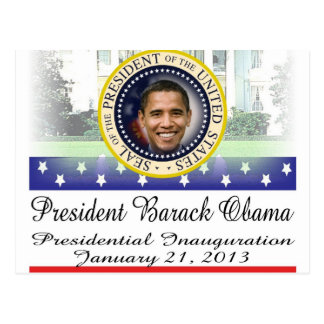 Einweihung 2013 Präsidenten-Barack Obama Postkarte