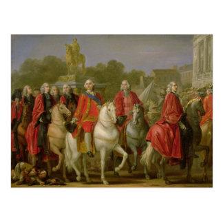 Einweihung des Platzes Louis XV Postkarte