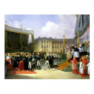 Einweihung eines Monuments im Gedächtnis Louis XVI Postkarte