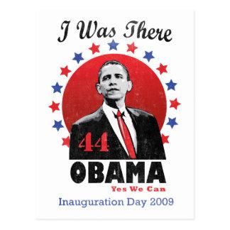 Einweihung Obama - 44. Präsident Postkarte