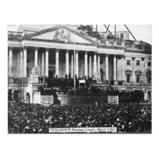 Einweihung von Abraham Lincoln am 4. März 1861 Postkarte