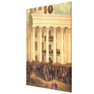 Einweihung von Präsidenten Jefferson Davis von CSA Leinwanddruck