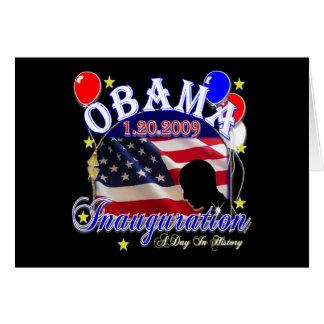 Einweihung von Präsidenten Obama 2009 Karte
