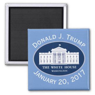Einweihungs-Tag Donald J. Trump u. das Weiße Haus Quadratischer Magnet