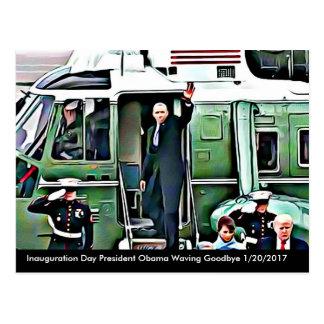 Einweihungs-Tagespräsident Obama u. Donald Trump Postkarte