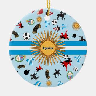 Einzelteile von Argentinien mit Flagge über ihr Keramik Ornament