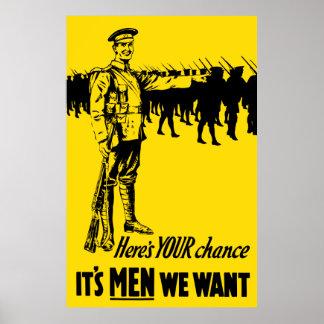 Einziehenplakat WW1 Poster