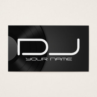 Einzigartige DJ-Visitenkarte Visitenkarte
