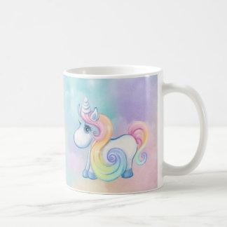 Einzigartige Einhorn-Pastell-Wolke Kaffeetasse
