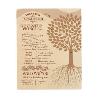 Einzigartige Eltern danken Ihnen Geschenk von der Holzwanddeko