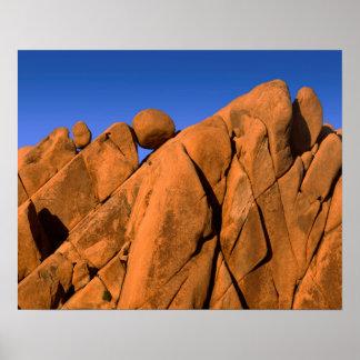 Einzigartige Felsformation, Kalifornien Poster