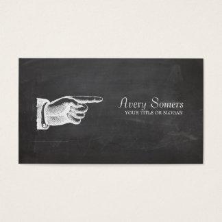 Einzigartige Grunge-Art-Vintages schwarzes Visitenkarten