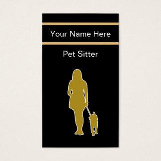 Einzigartige Haustier-Modell-Visitenkarten Visitenkarte