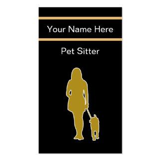 Einzigartige Haustier-Modell-Visitenkarten Visitenkarten