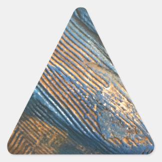Einzigartige helle blaue Beschaffenheit Dreieckiger Aufkleber