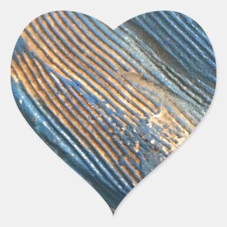 Einzigartige helle blaue Beschaffenheit Herz-Aufkleber