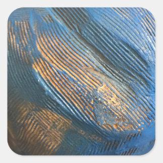 Einzigartige helle blaue Beschaffenheit Quadratischer Aufkleber